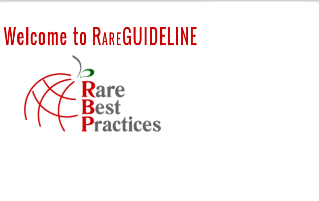 Visit RAREGUIDELINE! It is a RARE-Bestpractices  platform resource  which brings together health care  guidelines on rare diseases